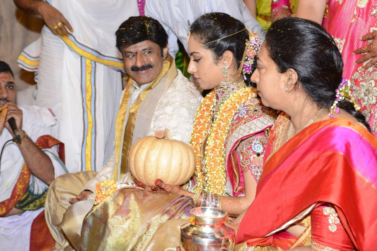 Spectacular Wedding Of Balakrishna's Daughter | Indian