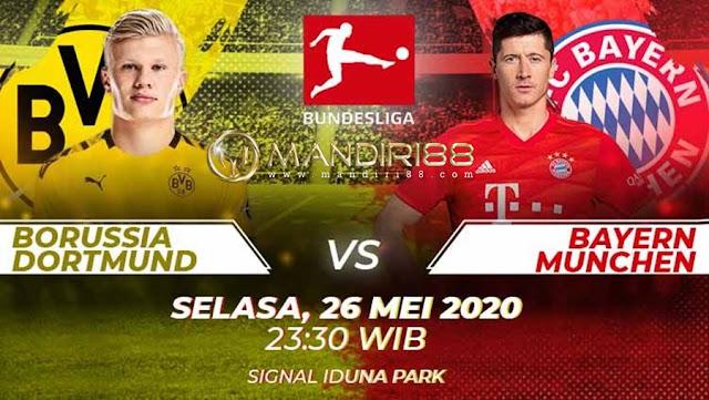 Prediksi Borussia Dortmund Vs Bayern Munchen, Selasa 26 Mei 2020 Pukul 23.30 WIB @ Mola TV