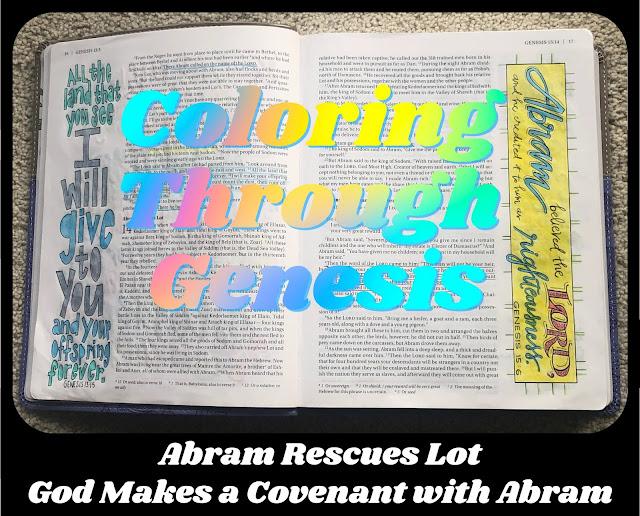 Abram and Lot - Coloring Through Genesis