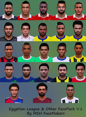 PES 2016 Egyptian League And Other FacePack V.1 By MSH FaceMakers