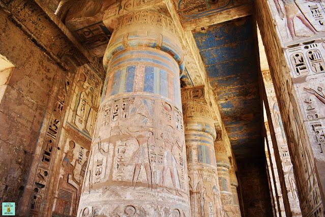 Templo Medinet Habu, Egipto