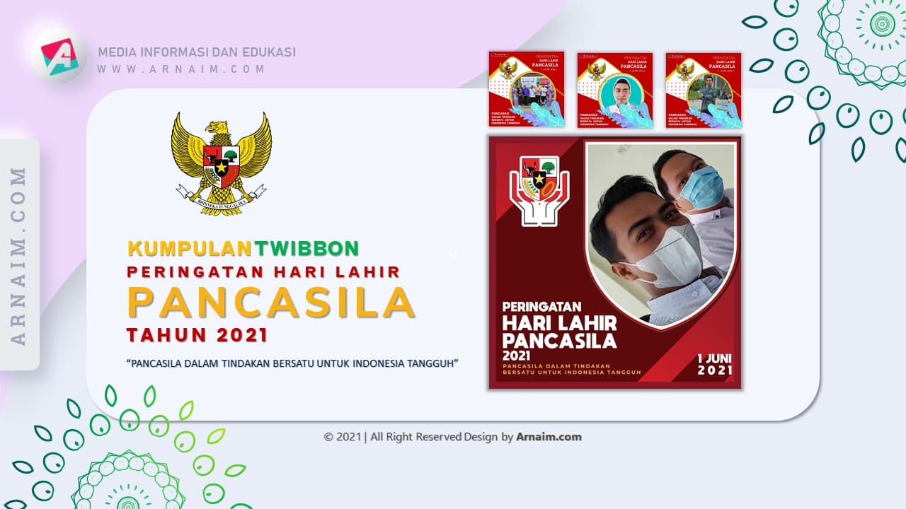 Arnaim.com - Kumpulan Twibbon Elegan Hari Lahir Pancasila Desain 4
