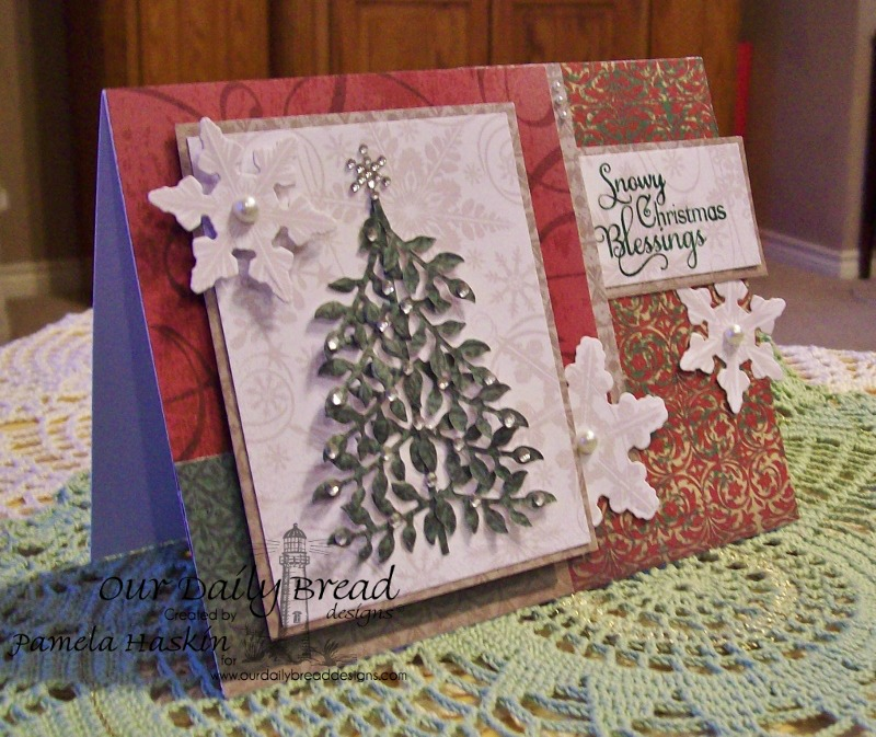 Stamps - Our Daily Bread Designs Snowflake Sentiments, Christmas Paper Collection 2013, ODBD Custom Snowflakes Die, ODBD Custom Fancy Foliage Die