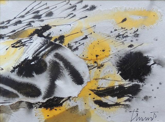 pintura Tharrats, Joan Tharrats, obra arte dibujo Tharrats, acuarela