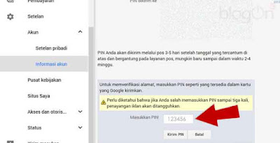 Cara Mudah Verifikasi Alamat dengan PIN Google Adsense