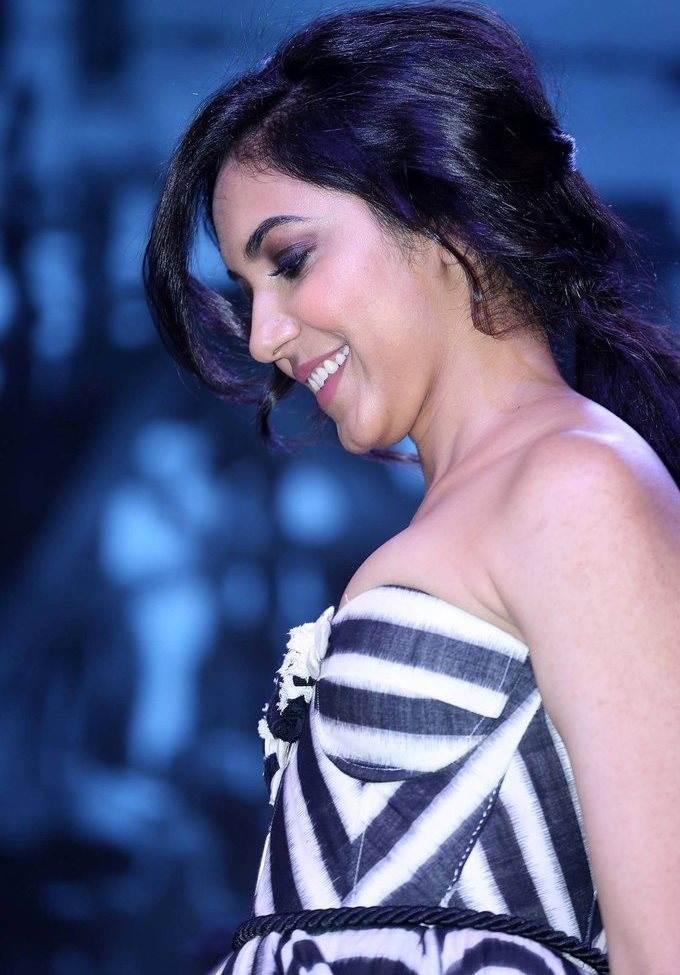 Ritu Varma In Black Dress At Woven Fashion Show