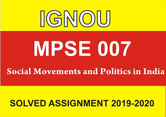 MPSE 007 Solved Assignment