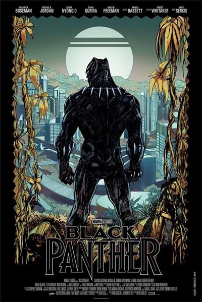 Póster Black Panther 2018