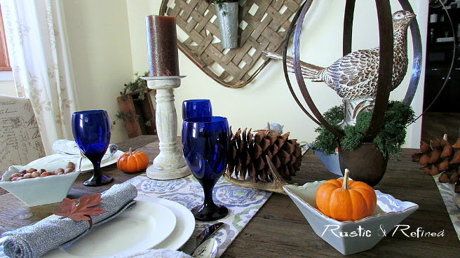 Cheap and Easy Thanksgiving Tablescape