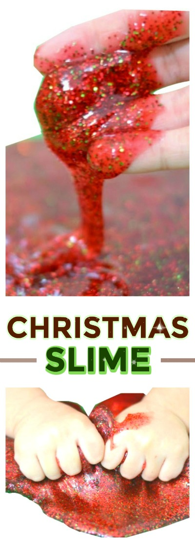 SANTA SLIME: so fun for kids & smells just like Christmas!! ( My kids loved making Santa farts with the slime haha) #slime #kids #christmascrafts #santacrafts #Christmascraftsforkids #Christmasactivities