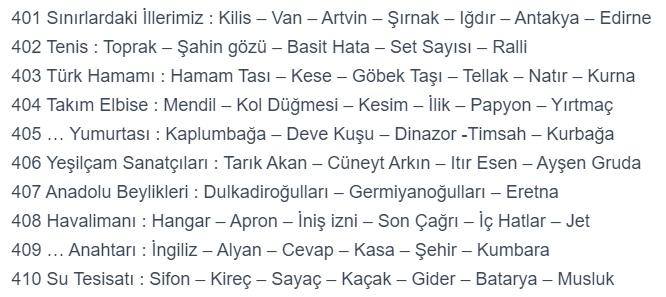 Türk hamamı a word 403 cevaplar