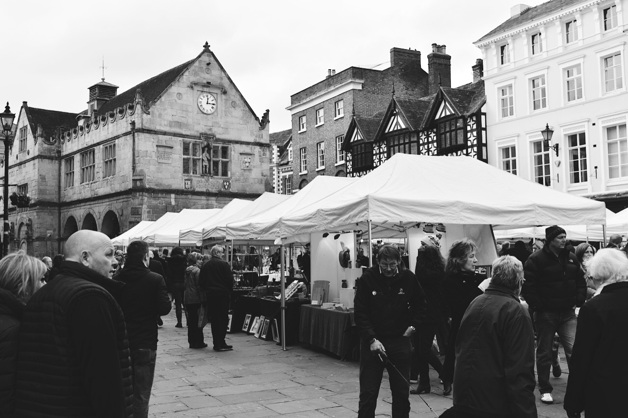 Market in Shrewsbury, lifestyle bloggers, FashionFake blog