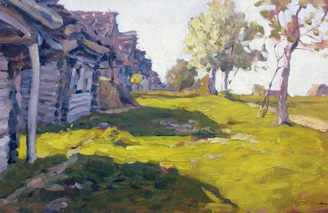 Исаак Ильич Левитан - Солнечный день. Деревня. 1898