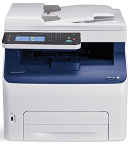 coloring LED printer excels inward small-scale business office environments Xerox Work Centre 6027 Driver Downloads
