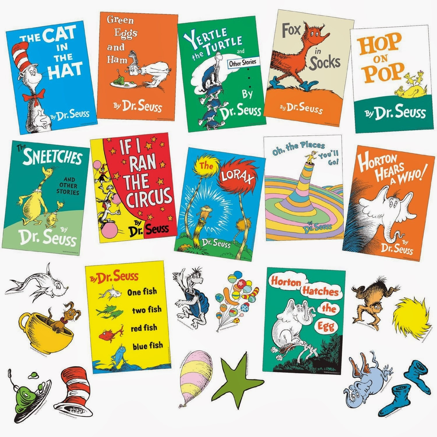Dr. Seuss Bulletin Board Books Set