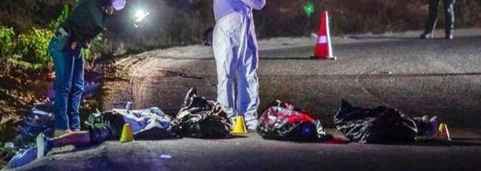 Van 8 cuerpos de Secuestradores abandonados con Narcomensajes en Tijuana