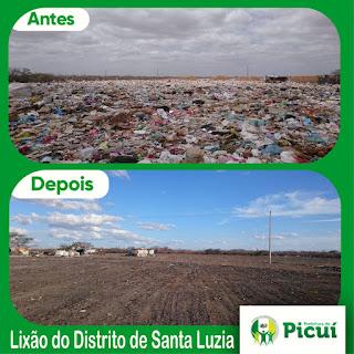 Em três dias Prefeitura de Picuí organiza lixão no distrito de Santa Luzia