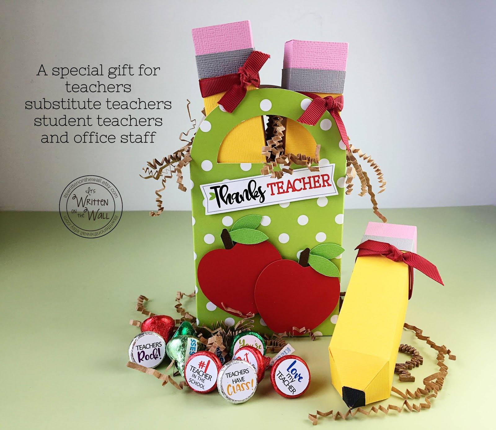 Pencil Treat Box for Teacher