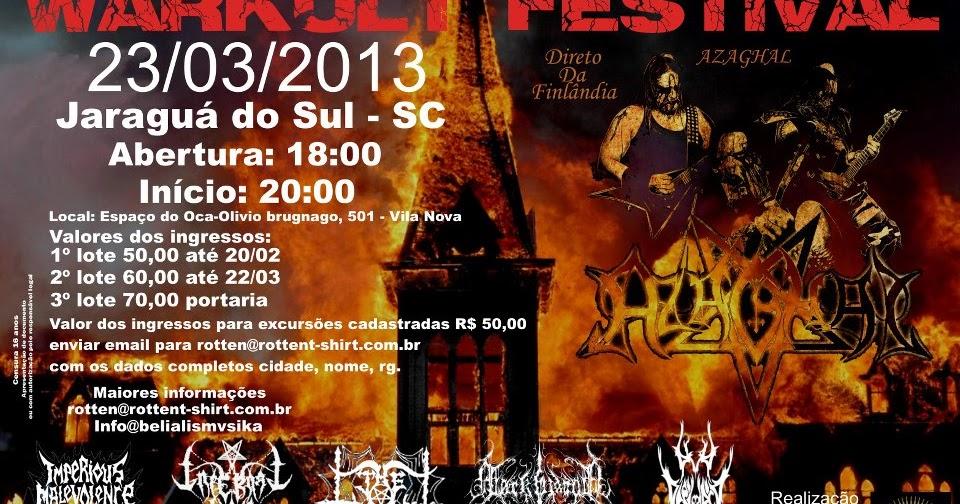 23 03 - WARKULT FESTIVAL EM JARAGUÁ DO SUL SC ~ SATANIC MILITIA MAGAZINE 88a416dfb5