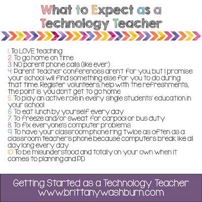What to expect as a technology teacher