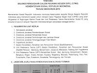 Pengadaan CPNS Kementerian Sosial Republik Indonesia Tahun Anggaran 2019