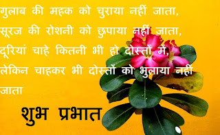 good morning quotes for friends and family in hindi