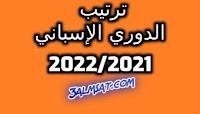ترتيب الدوري الإسباني 2022/2021