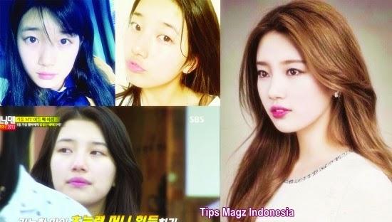 artis korea Suzy - miss A saat tanpa memakai makeup