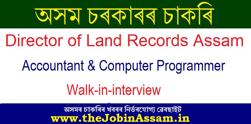 Director of Land Records Assam Recruitment 2020