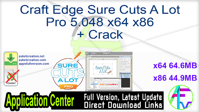 Craft Edge Sure Cuts A Lot Pro 5.048 x64 x86 + Crack