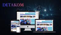Detakom News - Responsive Magazine Blogger Template free.