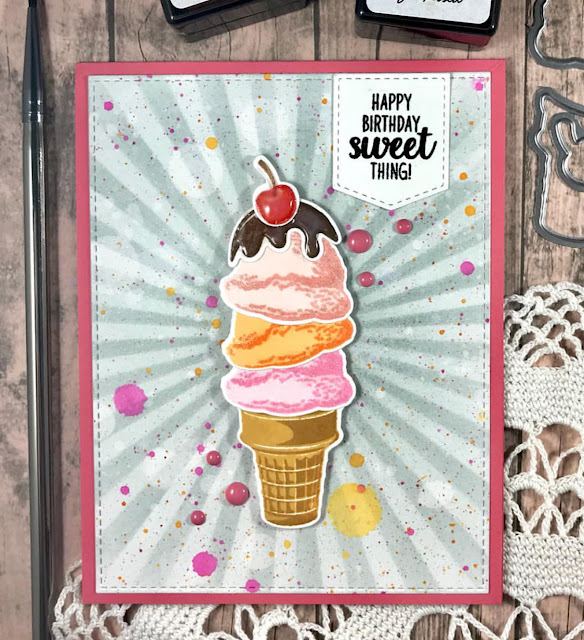 Sunny Studio Stamps: Two Scoops Customer Card Share by Angelica Conrad