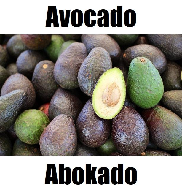 Avocado in Tagalog