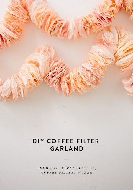coffee filter garlands for parties