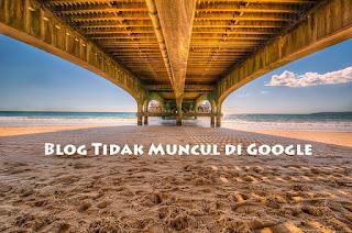 Alasan blog tidak muncul di Google