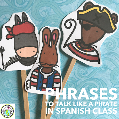 Phrases to Talk like a Pirate in Spanish Class