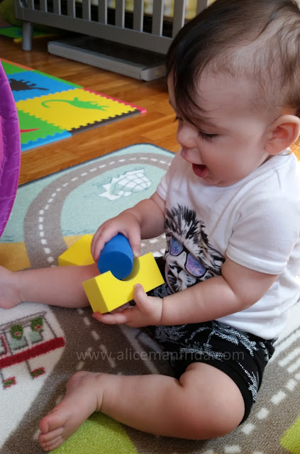 Harold Turns One, 12 month old baby, baby, toddler, blocks