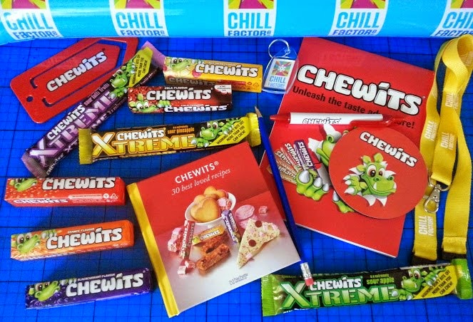 Chewits and Chill Factore Xtreme goodies