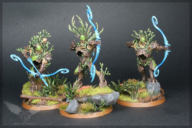 Warhammer Age of Sigmar Order Unit Sylvaneth Kurnoth Hunters with Greatbows magnetised 1