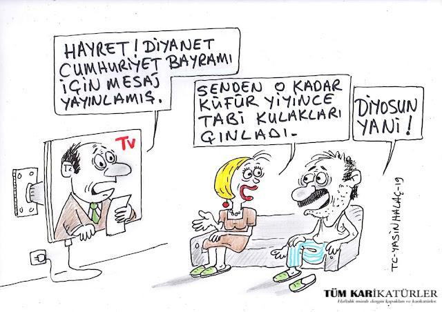 diyanet cumhuriyet bayramı karikatür