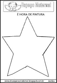 Desenho estrela natal colorir