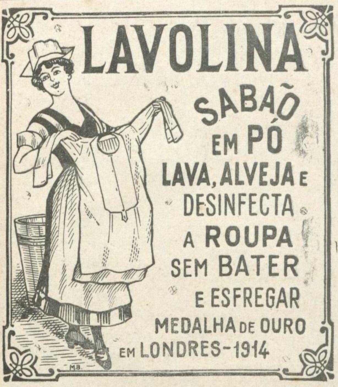 Anúncio antigo do Sabão em Pó Lavolina veiculado em 1925