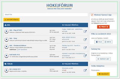 Diskuzní fórum HokejFórum