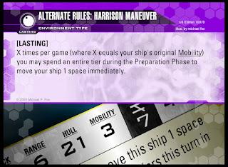 Environment Card: Alternate Rules: Harrison Maneuver