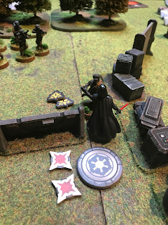 A Rebel unit is virtually wiped out by Darth Vader