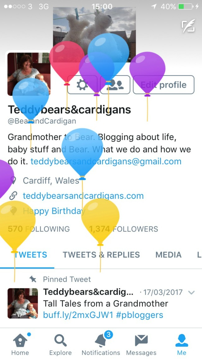 Twitter-balloons-for-birthday-teddy-bears-and-cardigans