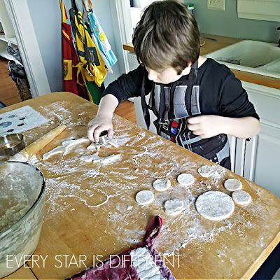 Phases of the Moon Project for Kids: Cookie Cutter Earth & Moons