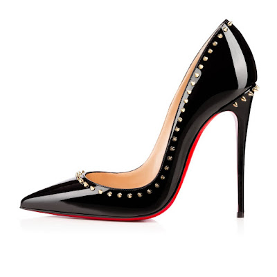separation shoes f2515 162d7 CHRISTIAN LOUBOUTIN ANJALINA 120MM BLACK PATENT - Reed ...