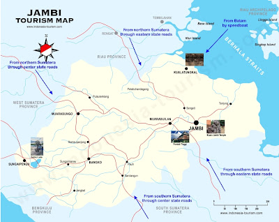 How to reach Jambi, Indonesia