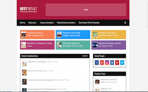 Best Result And Job website Blogger Templates Free Download